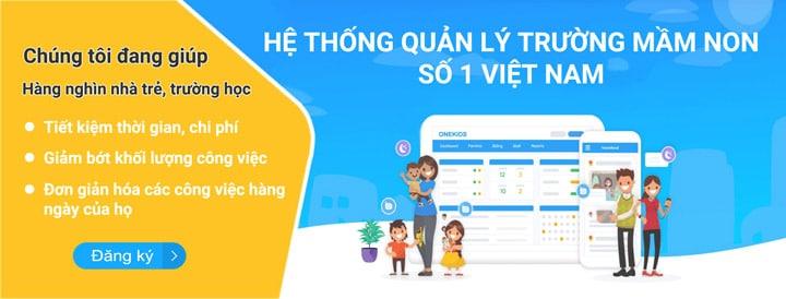 Phần mềm quản lý mầm non số 1 Việt Nam